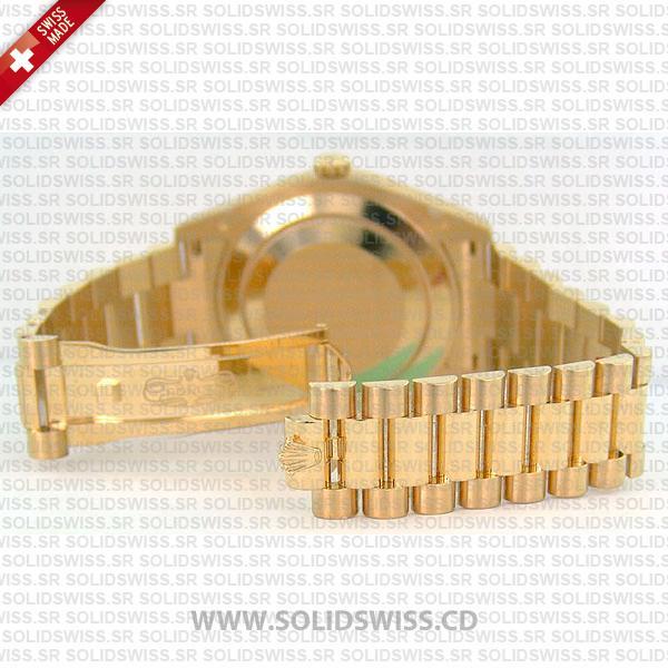 Rolex Day-Date II Yellow Gold Diamond Dial President Bracelet