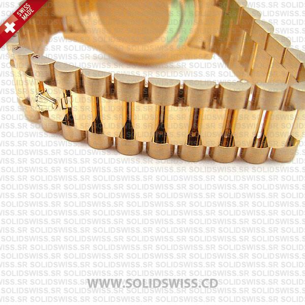 Rolex Day-Date II Yellow Gold 904L Steel President Bracelet