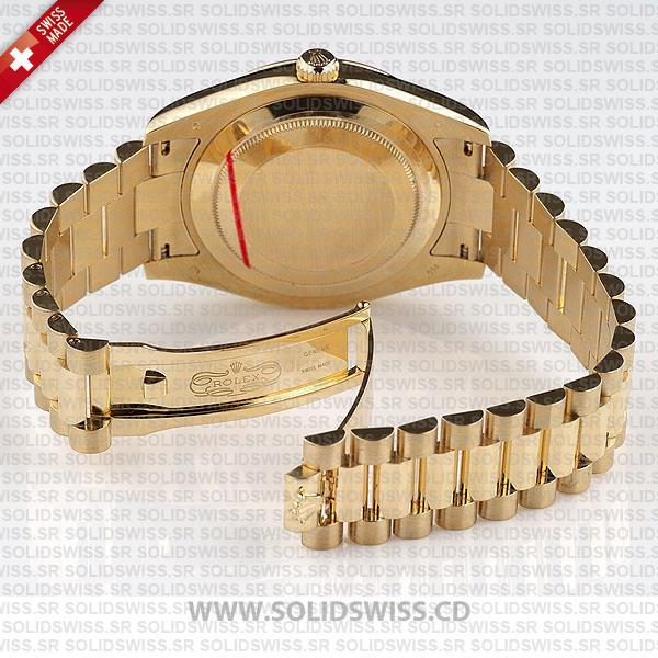 Rolex Day-Date II Yellow Gold 904L Steel President Bracelet Replica Watch