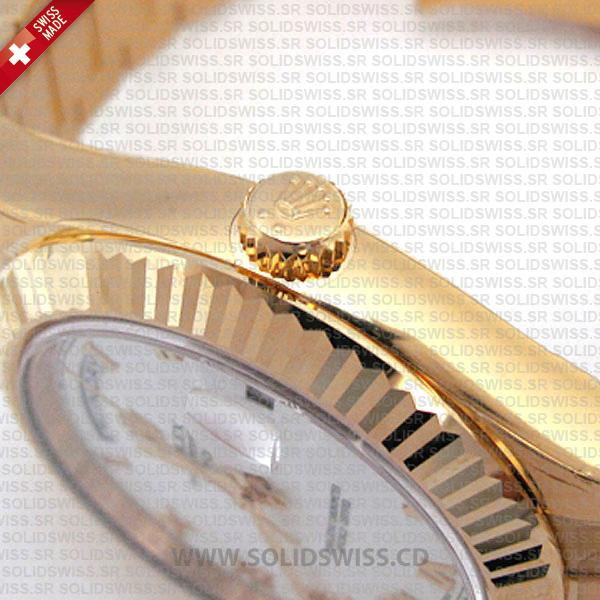 Rolex Day-Date II Gold White Roman Dial 41mm Watch