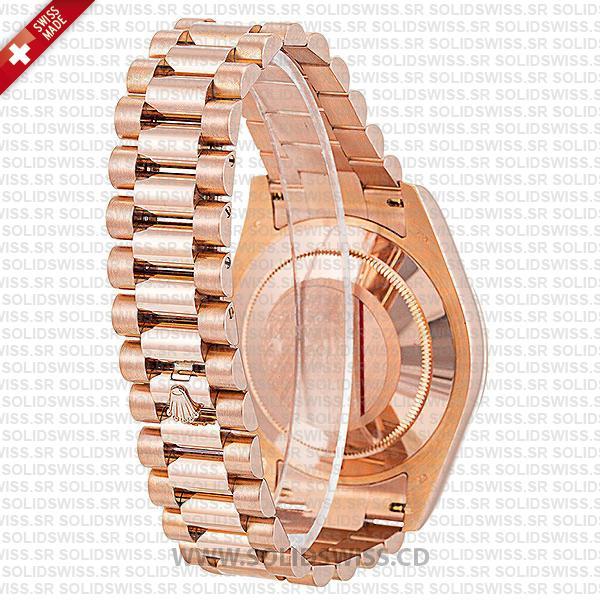 Rolex Day-Date II Rose Gold Chocolate Roman Dial 41mm