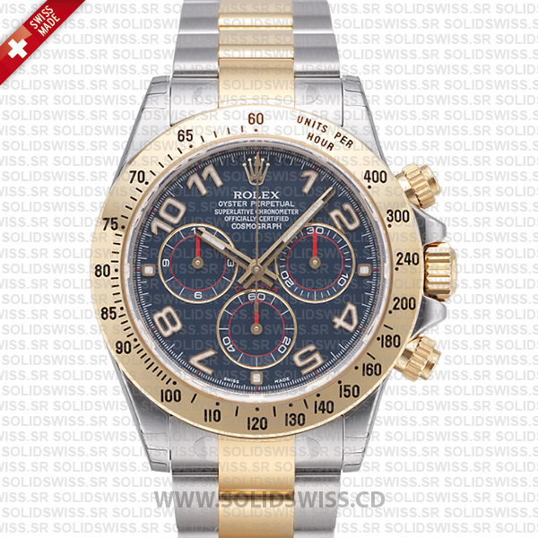 Rolex Daytona Two-Tone Blue Arabic Dial | Solidswiss Replica