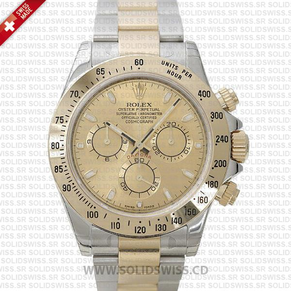 Rolex Daytona Two-Tone Gold Dial | Solidswiss Replica Watch