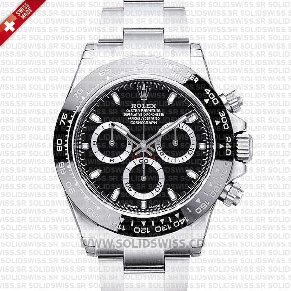 Rolex Daytona 2016 Black Dial Ceramic Bezel 40mm Watch