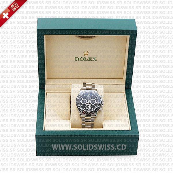 Rolex Daytona Black Dial Ceramic Bezel Oyster Bracelet Watch