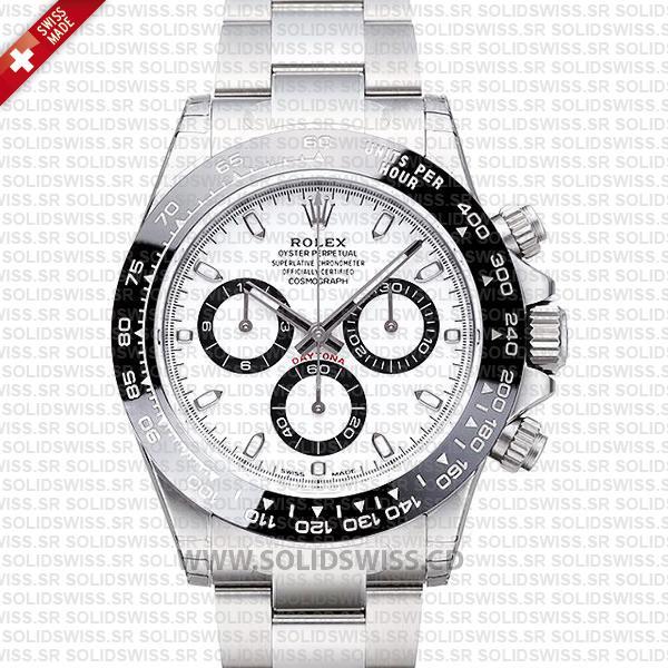 Rolex Daytona 2016 Stainless Steel White Dial | Solidswiss