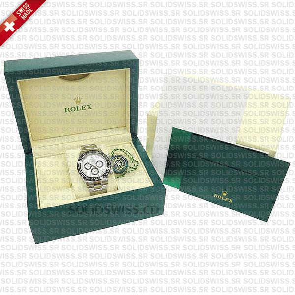 Rolex Daytona Stainless Steel White Dial with Subdials 40mm Oyster Bracelet Watch
