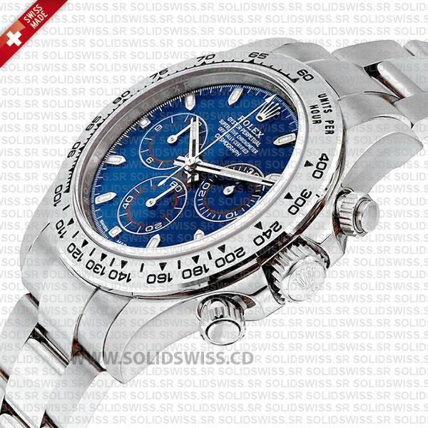 Rolex Daytona 2016 White Gold Blue Dial Replica Watch