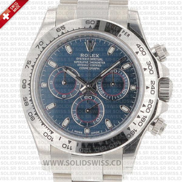 Rolex Daytona 2016 White Gold Blue Dial Watch