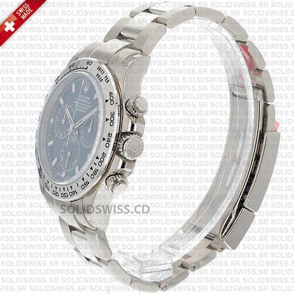 Rolex Cosmograph Daytona 18k White Gold Blue Dial