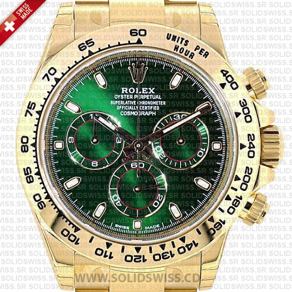 ROLEX-DAYTONA-2016-YELLOW-GOLD-GREEN-116508-40mm-SOLIDSWISS-CD-REPLICA