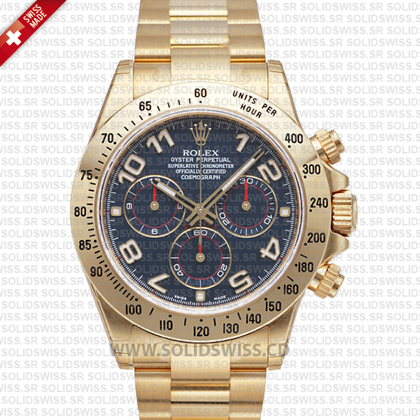 Rolex Daytona 18k Yellow Gold 40mm | Blue Arabic Dial Watch