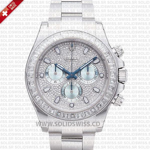 Rolex Daytona Stainless Steel Platinum Watch | Solidswiss