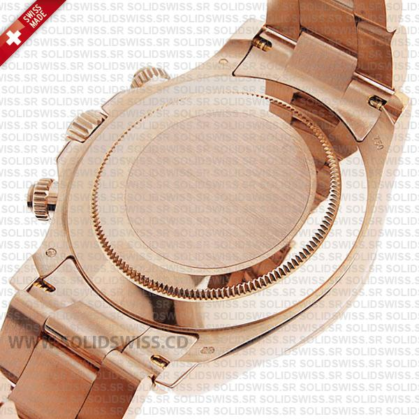 Comes with calf leather band or 18K Rose Gold PVD band