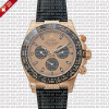 Rolex Daytona Leather Rose Gold Gold Ceramic Solidswiss Replica