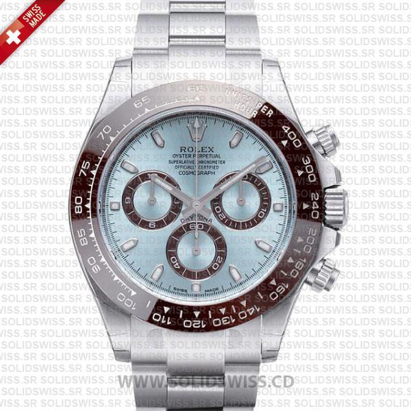 Rolex Daytona Platinum Ice Blue Dial 40mm | Replica Watch