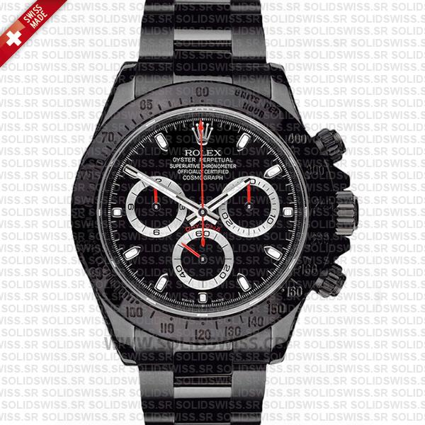 Rolex Daytona DLC Black Dial 40mm | Rolex Replica Watch