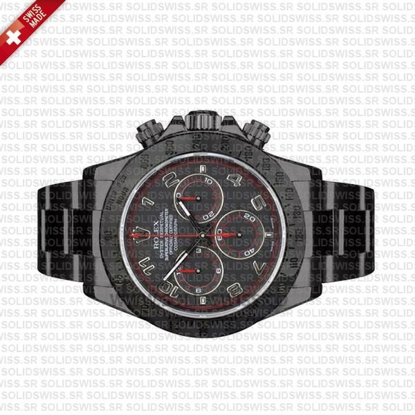 Rolex Daytona DLC Black Arabic Swiss Replica