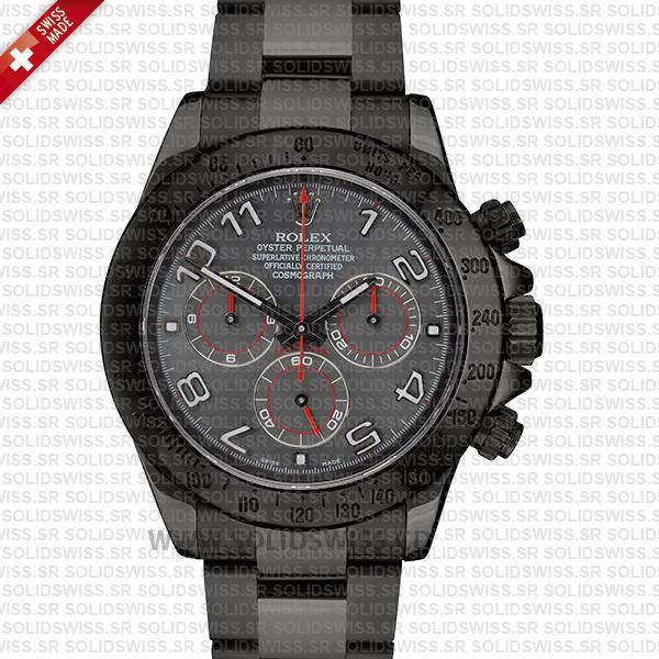 Rolex Daytona DLC Black Arabic Lumen Dial | Solidswiss Watch