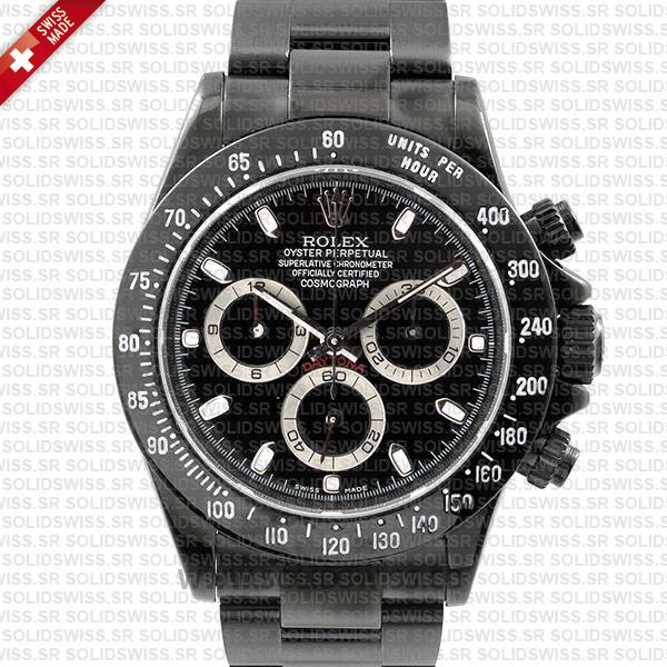Rolex Daytona DLC Black Swiss Replica