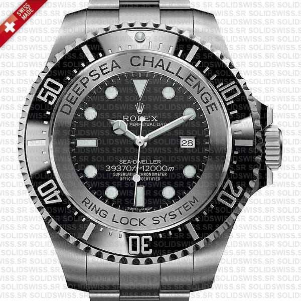 Rolex Deepsea Challenge SS Black Dial Replica Watch