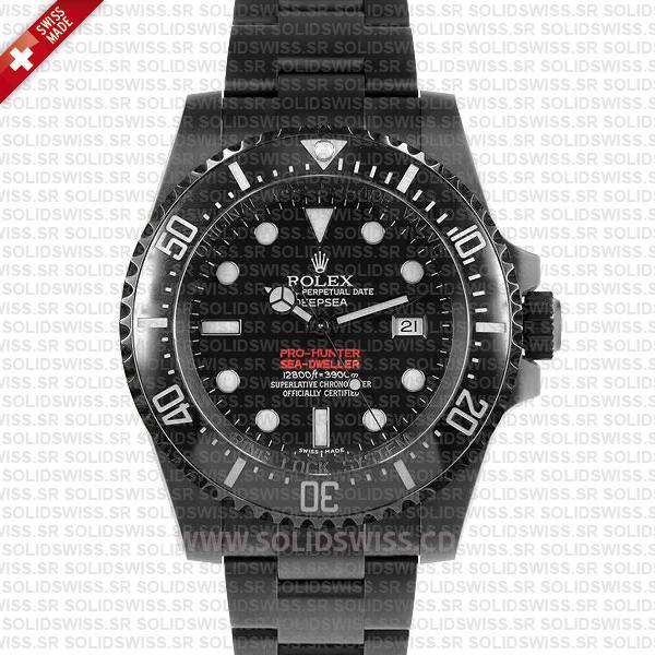 Rolex Sea-Dweller Deepsea DLC Pro Hunter Replica Watch