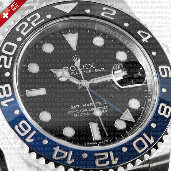 Rolex GMT-Master II SS Blue Black Ceramic 40mm 116710