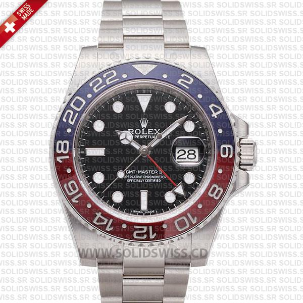 Rolex GMT-Master II SS Red Blue Black Ceramic