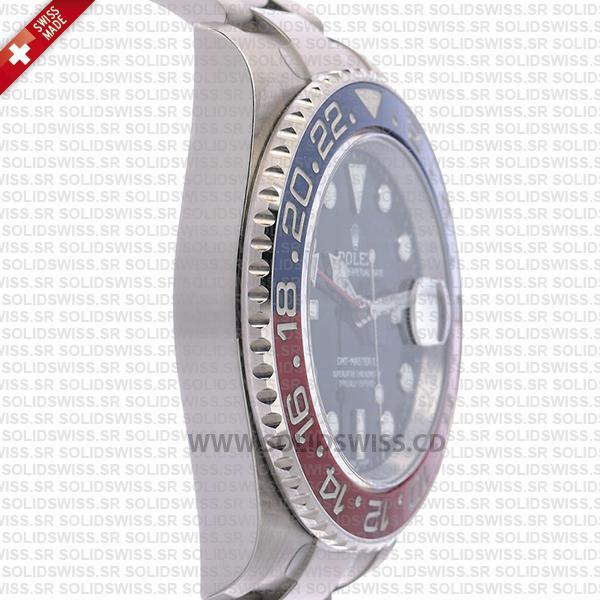 Rolex GMT-Master II Pepsi Red-Blue Ceramic Bezel Blue Dial Oyster Bracelet 40mm Swiss Replica