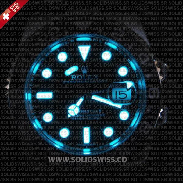 Rolex GMT-Master II Blue Dial Superluminova Blue Lume