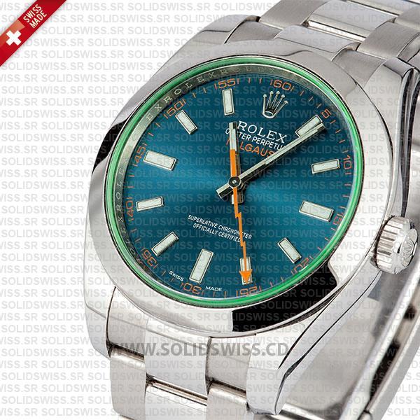 Rolex Milgauss Blue Dial 40mm Replica Watch