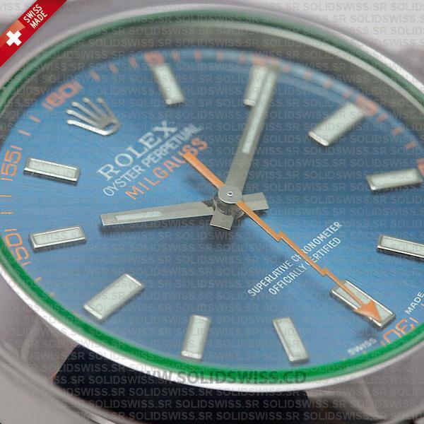 Rolex Milgauss Blue Dial 40mm Replica