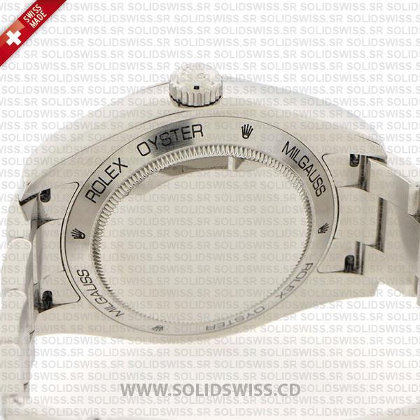 Rolex Milgauss Blue Dial Stainless Steel Oyster Bracelet 40mm