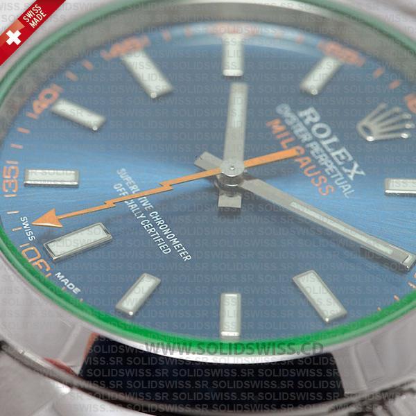Rolex Milgauss Blue Dial Stainless Steel 40mm