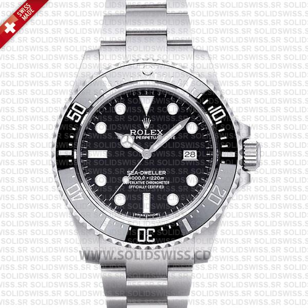 Rolex Sea Deweller 4000 Ceramic SS Solidswiss.cd Swiss Replica