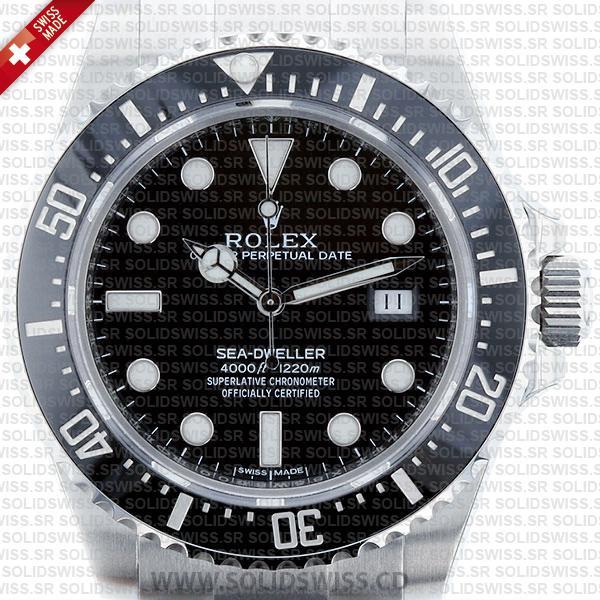 Rolex Sea-Dweller 4000 Black Dial Stainless Steel Oyster Bracelet Watch