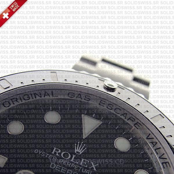 Rolex Deepsea Sea-Dweller 44mm Black Dial | 904L Steel Replica Watch
