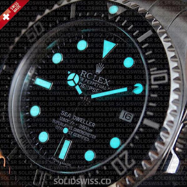 Rolex Deepsea 44mm Swiss Replica Black Dial
