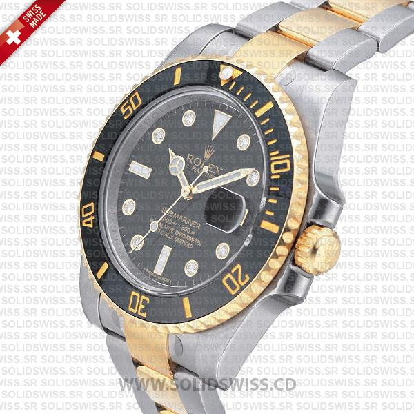 Rolex Submariner Date Watch | 2 Tone Black Dial