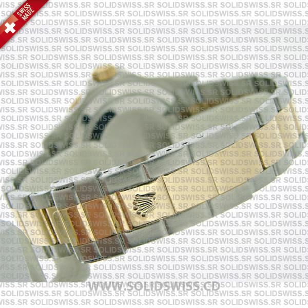 Rolex Submariner Serti Silver Face Dial 2-Tone 18K yellow gold Watch
