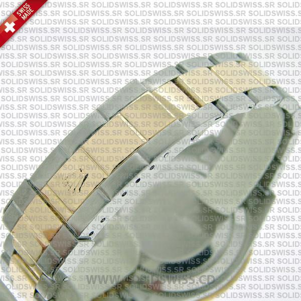 Rolex Submariner Serti Dial 2-Tone   Silver Face Swiss Replica Watch