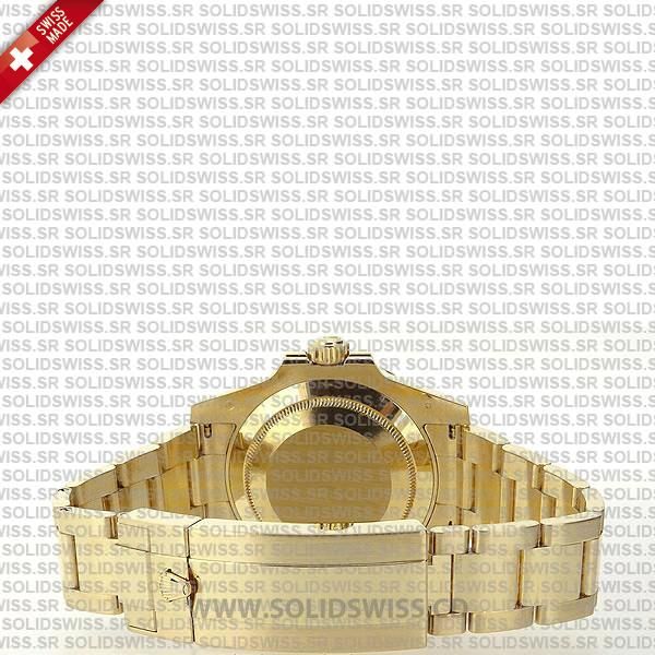 Rolex Submariner Gold Black Ceramic DLC Coated Bezel 40mm
