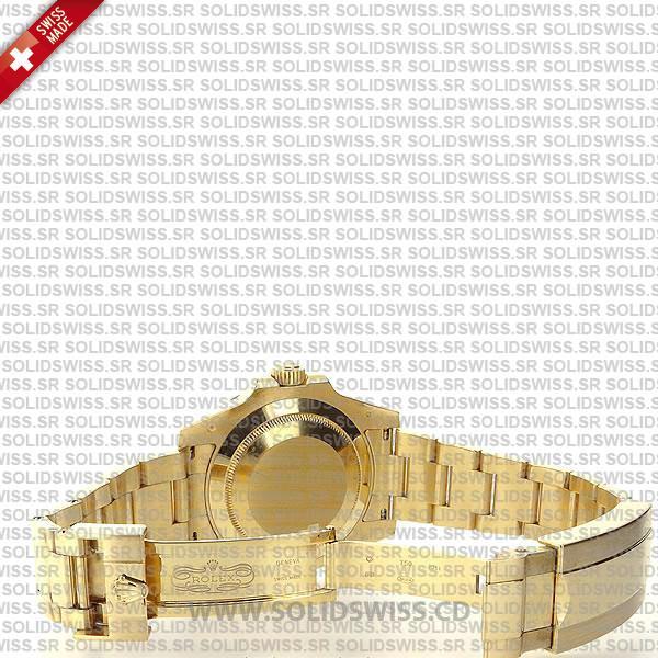Rolex Submariner Gold Black Ceramic DLC Coated Bezel 40mm Watch
