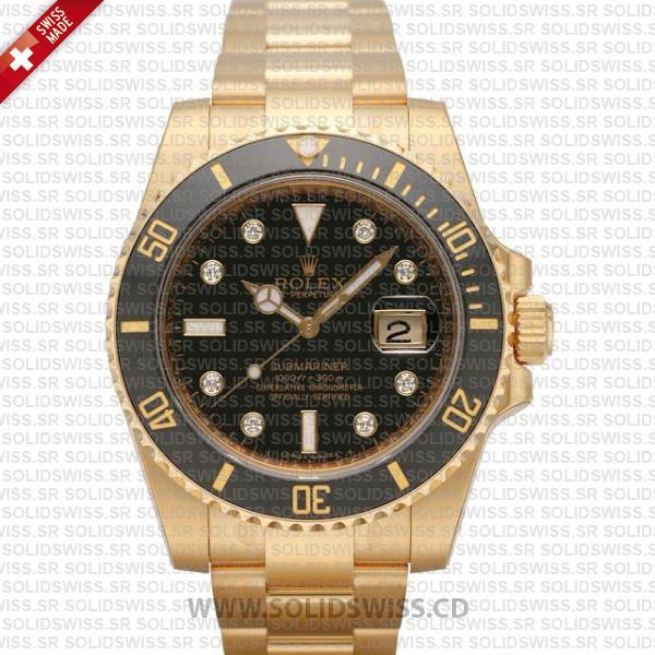Rolex Submariner Date Watch 18k Yellow Gold