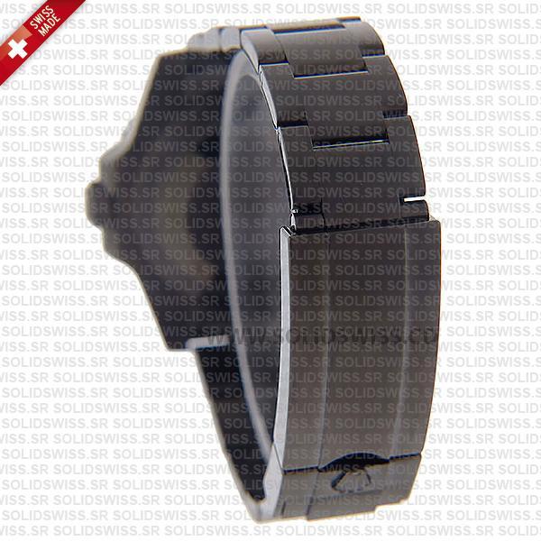 Rolex Submariner Black Ceramic Bezel Swiss Replica Watch with Blaken D-Blue Dial & DLC
