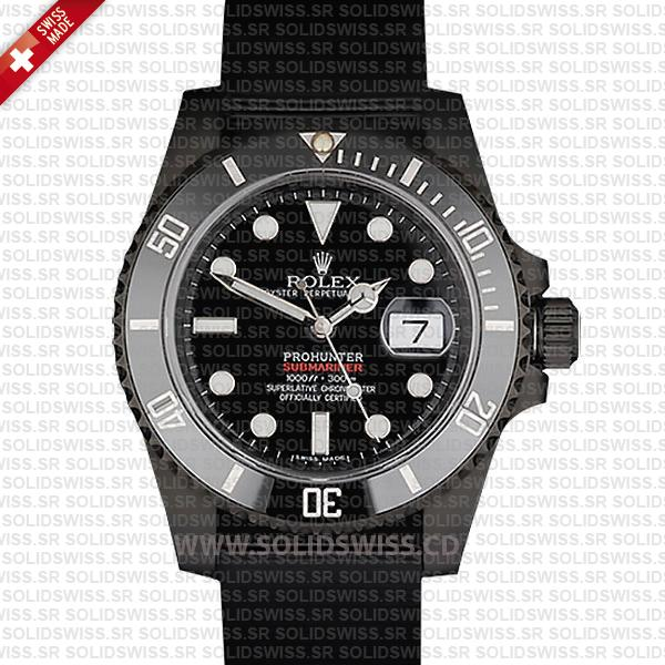 Pro Hunter Rolex Submariner NATO Date   Black Ceramic Bezel