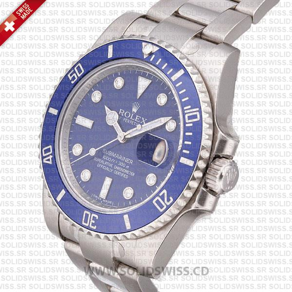 Rolex Submariner Stainless Steel Blue Dial with Ceramic Bezel