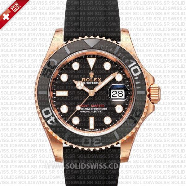 Rolex Yacht-Master Rose Gold Black Dial | Swiss Replica Watch