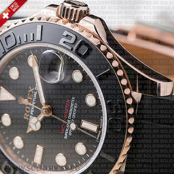 Rolex Yacht-Master Rose Gold Black Ceramic 40mm