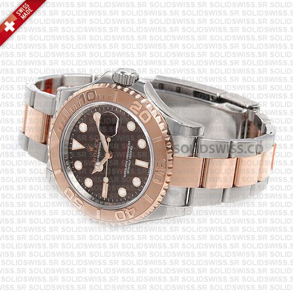 Rolex Yacht-Master Two-Tone Chocolate Dial Replica Watch